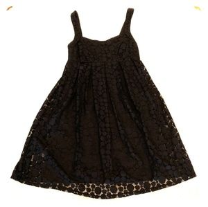 Little black babydoll dress size small lace